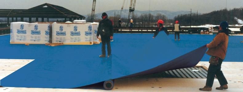 Custom Roll Install - Blue Roof