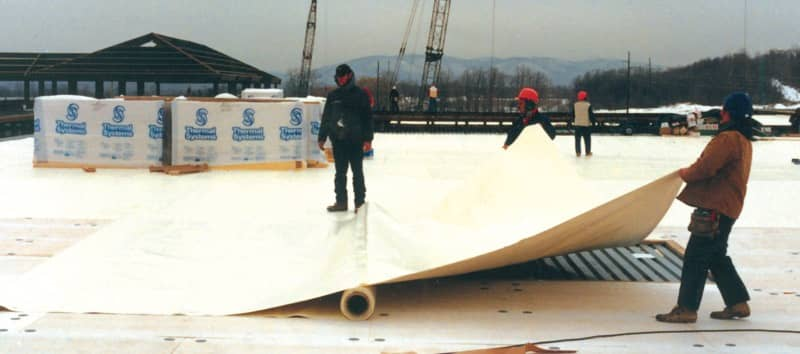 Installing a Custom Roll of FiberTite Roofing Membrane