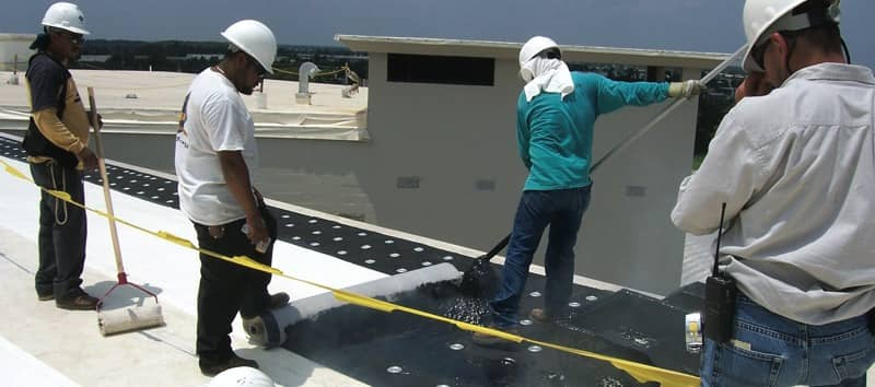 Contractors Installing a FiberTite Hybrid Roofing System