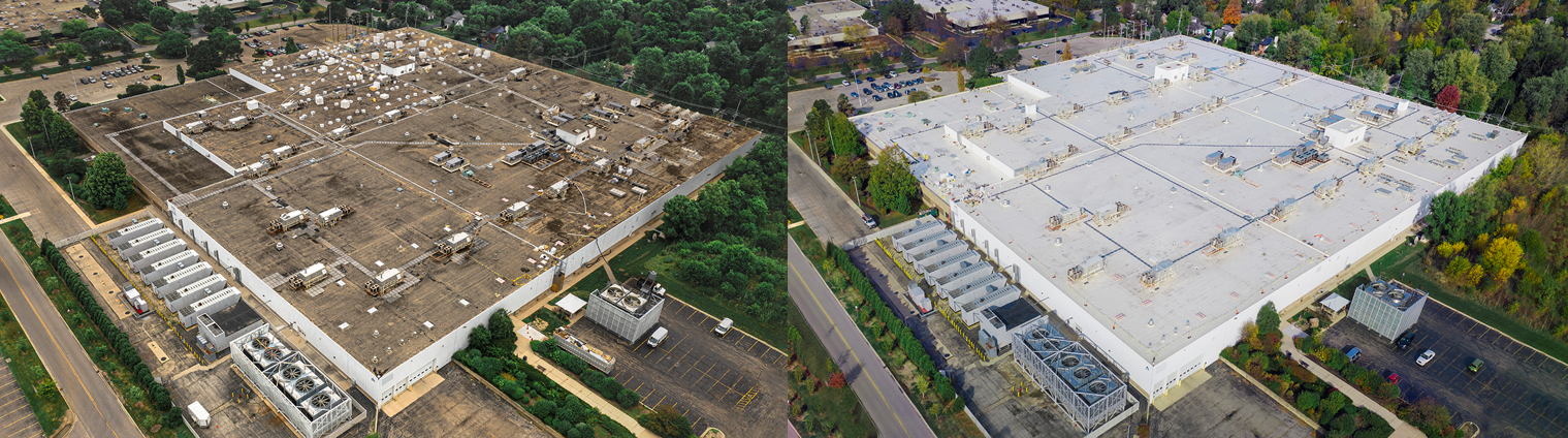Lisle Data Center Before and After