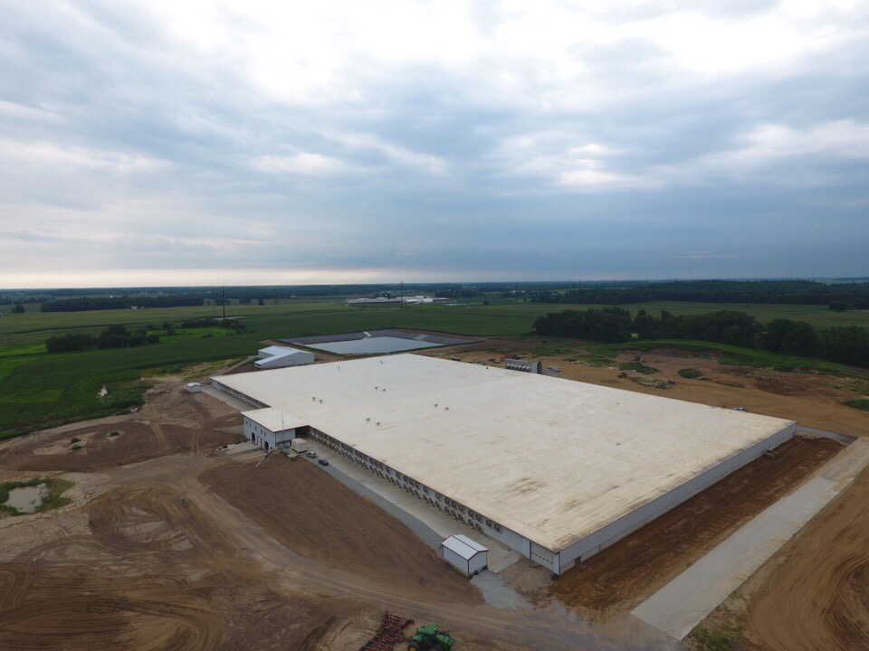 Low Slope Roofing System at Dairy Facility