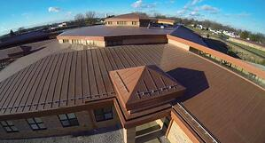 Simulated Metal Roofing Membrane at Rittman Exempted Village School District