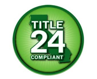California Title 24 Compliant