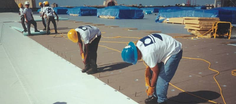 Installation of a Commercial Roofing System