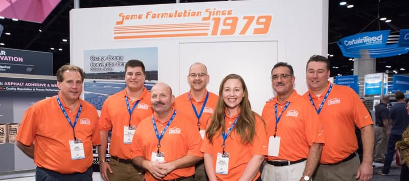 fibertite team at international roofing expo