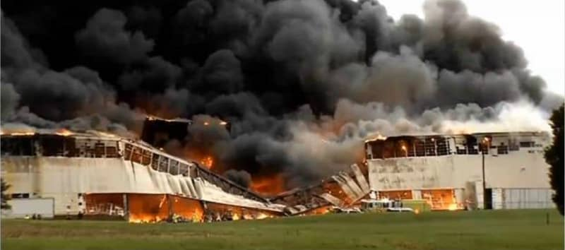 Fire Destroys a Storage Building