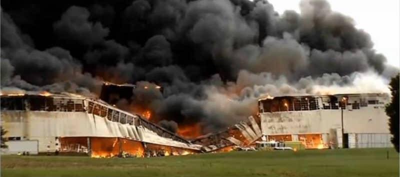 Fire Destroys a Storage Building