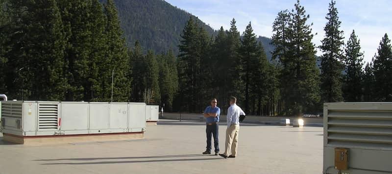Men on a FiberTite Roofing System in Mont Bleu