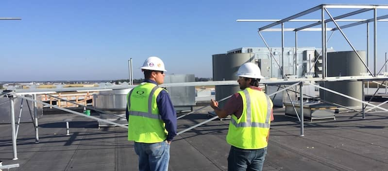 Roof Consultants on a FiberTite Roofing System