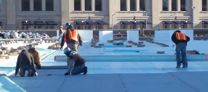 FiberTite Roofing Membrane Installed on New York Yankee's Parking Garage