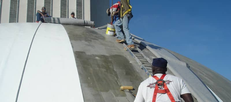 Contractors Installing a FiberTite Roofing System