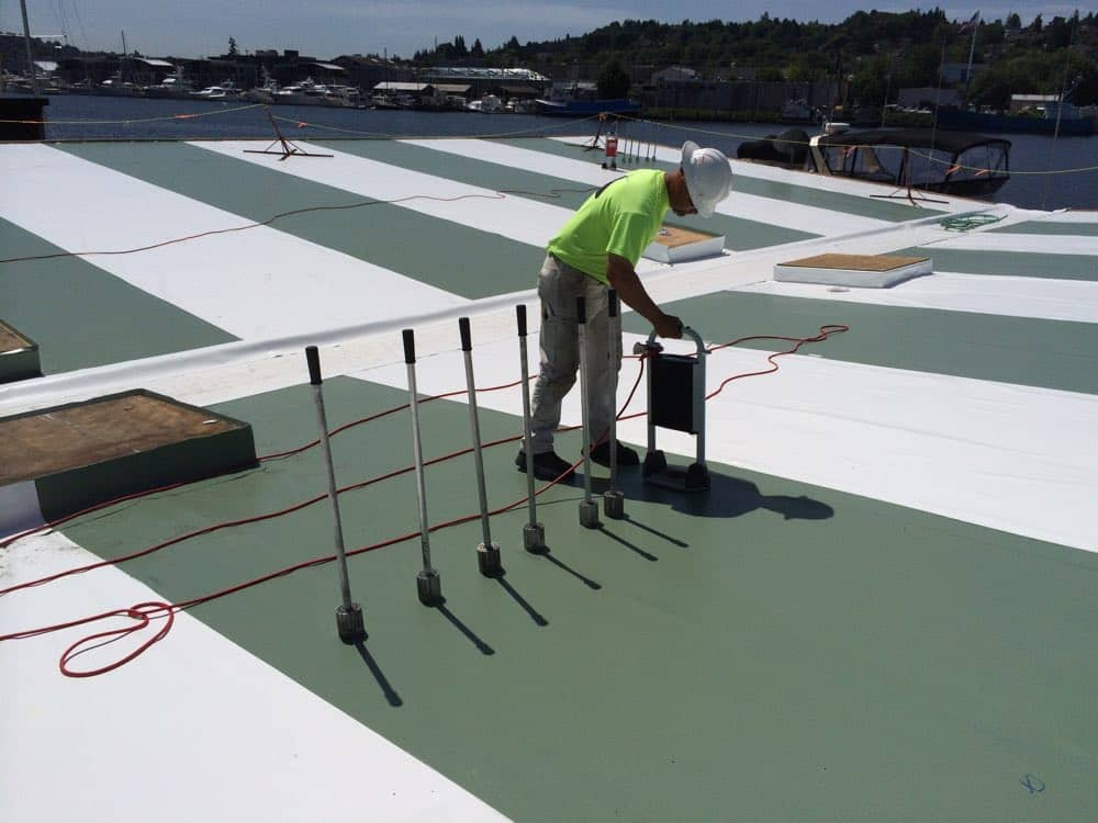 Welded Roofing System Installation, Stimson Marina, Seattle