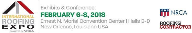 International Roofing Expo, February 6-8, 2018