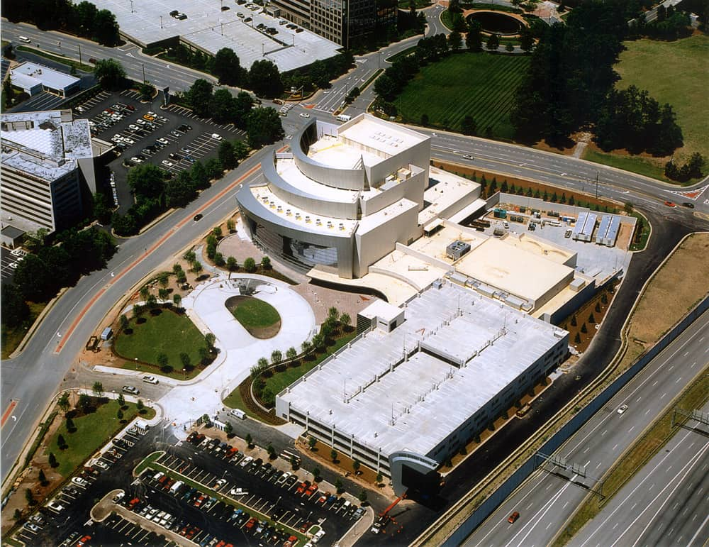 Fully Adhered Roofing System at Cobb Energy Performing Arts Center in Atlanta