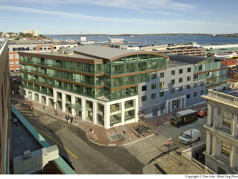 Adhered Roofing System, Custom House Square, Portland, Maine