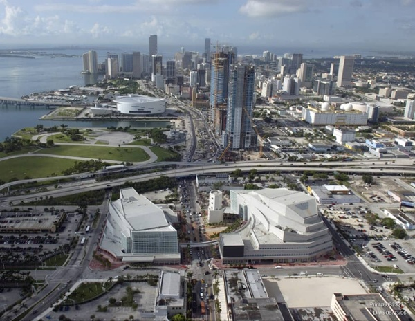 Adhered Roofing System, Adrienne Arsht Center for the Performing Arts, Miami