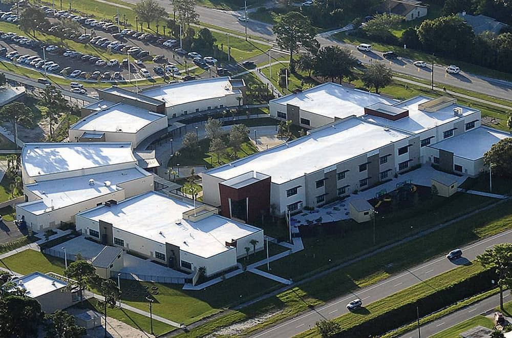 Fully Adhered Roof at Vero Beach Elementary in Vero Beach, Florida