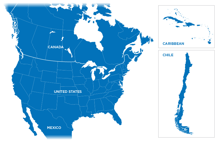Technical Representative Map - no regions shown